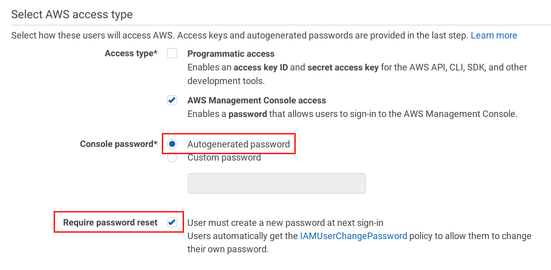 Use an autogenerated password and force reset on first login
