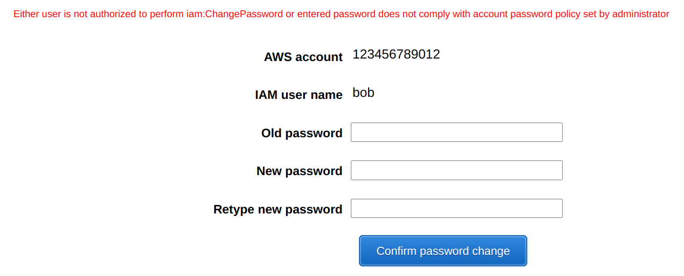 Password prevented by the password policy gives no indication what is wrong